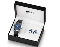 BOSS Men's Watch and Cufflink Gift Set