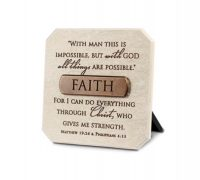 FAITH plaque Scripture verse: Matthew 19:26