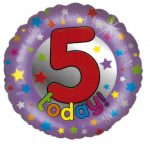 18 Inch 5 Today Stars Foil