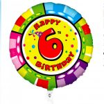 18 Inch Animaloon Carterpillar 6th Birthday Foil Balloon