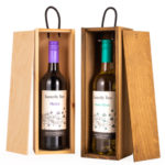 Single Bottle Sliding Lid Wine Box Handmade wooden