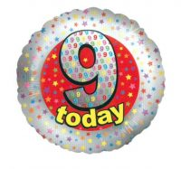 18 Inch 9 Today Foil Balloon