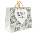 Medium Silver & Ivory Gift Bag – Happily Ever After