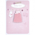 New Baby Girl Card – Clothes Line